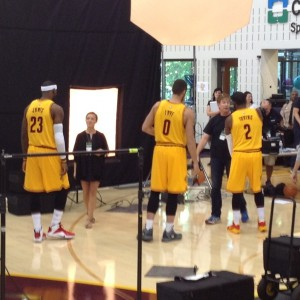 LeBron James, Kevin Love and Kyrie Backs To Me Photo