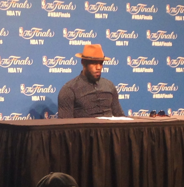 LeBron James NBA Finals Game 6 Postgame at the Podium 6-17-15