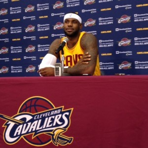 LeBron James Podium - Media Day 9-26-14