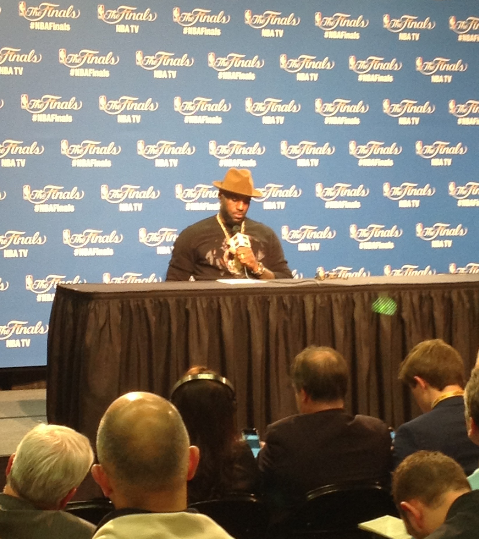 LeBron James Postgame Photo - Game 3 - NBA Finals