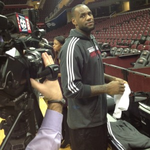 LeBron James Shoot Around Photo