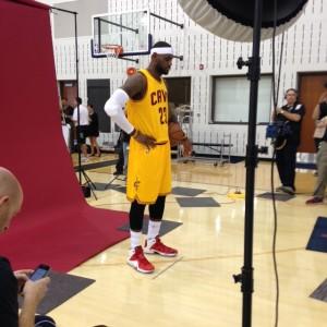 LeBron James Standing Pose Photo 9-26-14