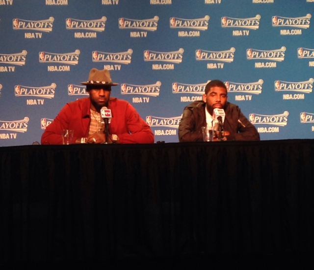 LeBron James and Kyrie Irving - Postgame Bulls - Game 2