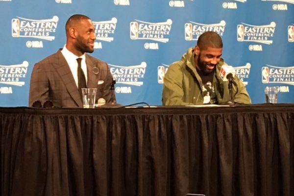 LeBron & Kyrie Postgame Raptors Game 1