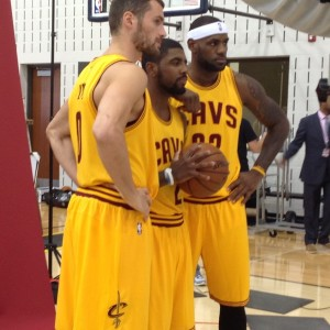 LeBron, Kyrie and K-Love Media photo - 9-26-14