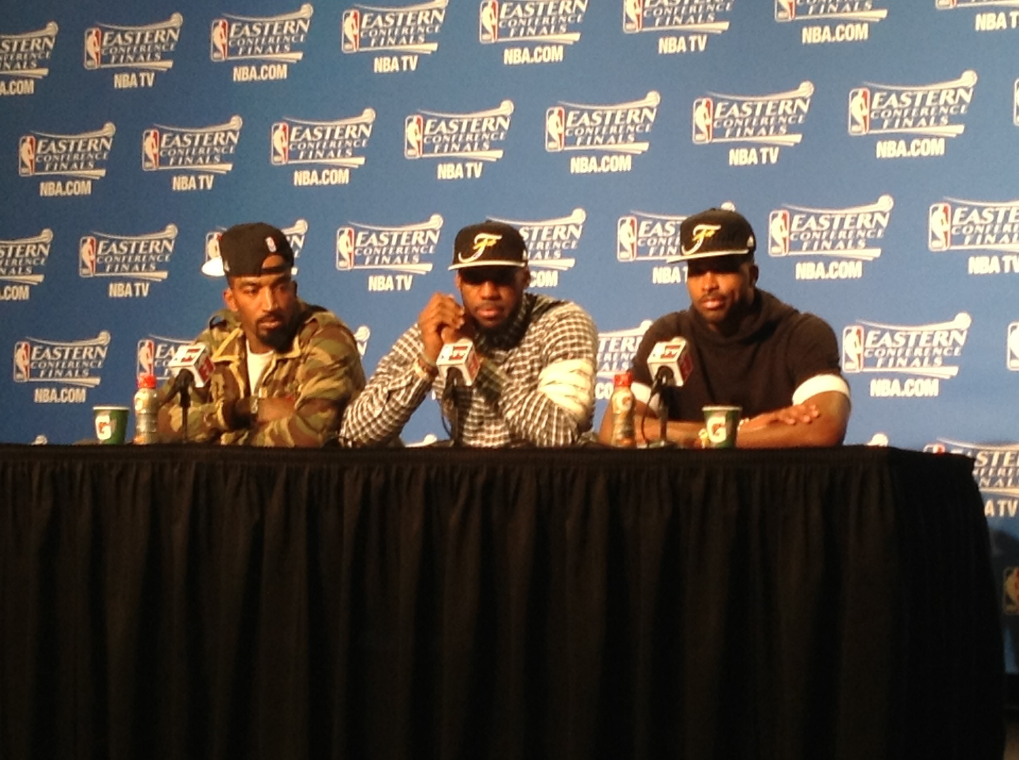 LeBron, Tristan and JR Postgame ECF Game 4 - 5-26-15