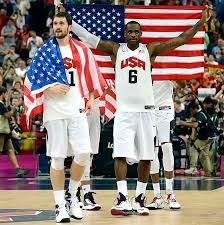 LeBron and Kevin Love Olympics photo