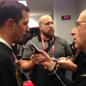 Luke Fickell with Kenny Roda