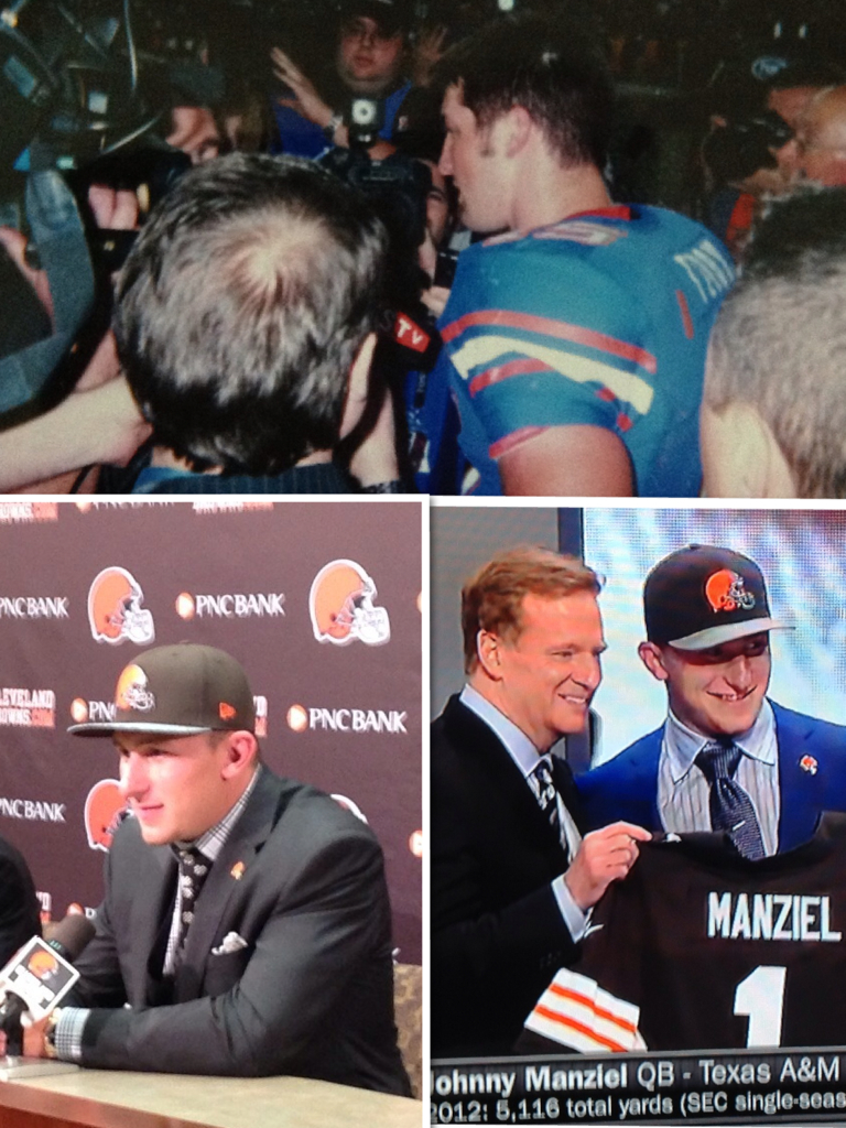 Manziel vs Tebow Photo