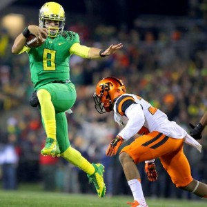 Marcus Mariota In Game Heisman Pose