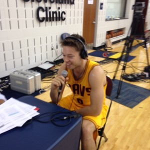 Matthew Dellavedova Sitting Interview Cavs Media Day 2014