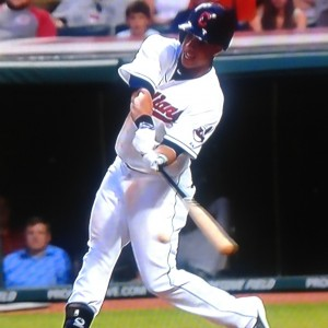 Michael Brantley swinging photo