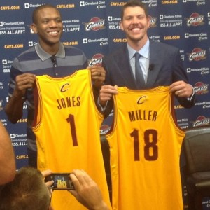 Mike Miller and James Jones Jersey Photo