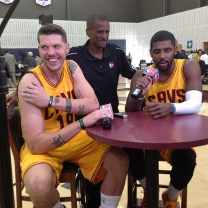 Mike Miller and Kyrie Irving NBA TV Photo