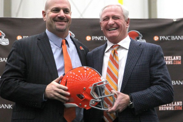 Mike Pettine and Jimmy Haslam 1-23-14