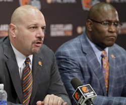 Mike Pettine and Ray Farmer - Courtesy of AP