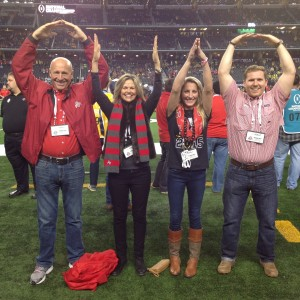 O-H-I-O Photo From Fans Pregame Nati Championship Game 1-12-15