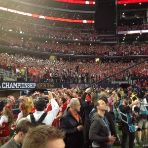OSU Band and Crowd Shot At Nati Championship Game 1-12-15
