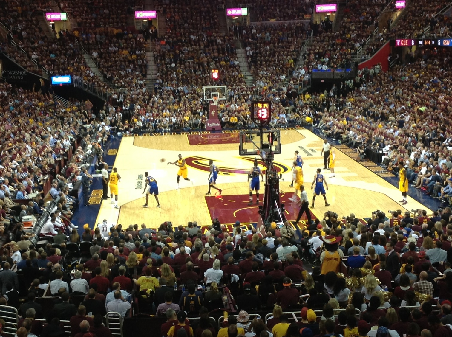 Quicken Loans Arena In Game Full Court - Game 3 NBA Finals