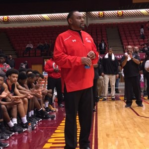 Rick Hairston on Sidelines vs Jackson 3-5-16