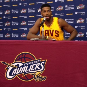 Tristan Thompson Podium Photo Cavs Media Day 2014