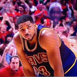 Tristan Thompson Reaction Shot Game 3 vs Bulls