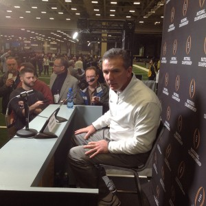Urban Meyer Media Day - Close Up Lean - Nati Championship  1-10-15