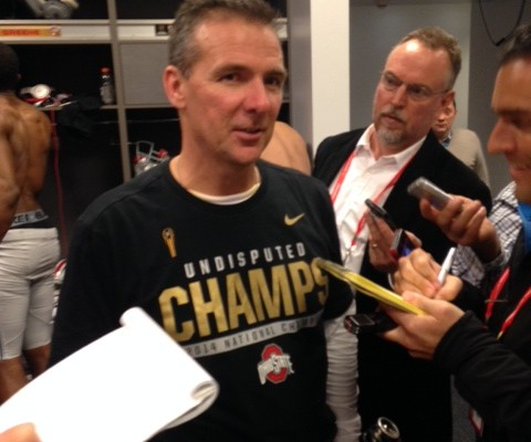 Urban Meyer - National Championship Postgame Locker Room Interview 1-13-15