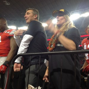 Urban Meyer Postgame Celebration Points To Where He Will Get Tatoo Nati Championship 1-12-15