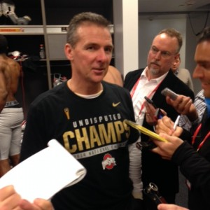 Urban Meyer Postgame Locker Room Interview Nati Championship 1-12-15