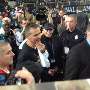 Urban Meyer and Phil Knight Postgame Nati Championship 1-12-15