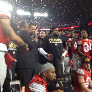 Urban Meyer and Players Interviewed Postgame Nati Championship 1-12-15